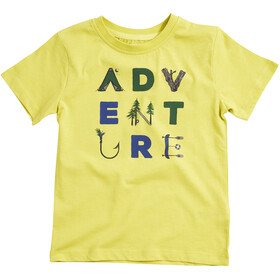 United By Blue Adventure T-shirt à col ras-du-cou à motif Enfant, citron yellow
